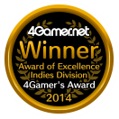 Winner Award of Excellence Indies Division 4Gamer's Award 2014